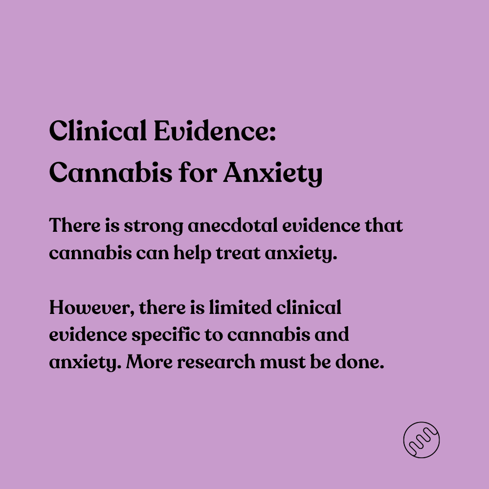 clinical evidence for cannabis and anxiety